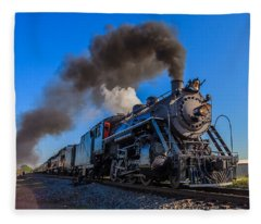 Full Steam Ahead Fleece Blanket