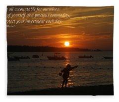 Fun At Sunset/ Inspirational Fleece Blanket