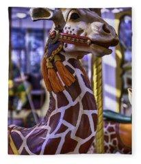 Fun Giraffe Carousel Ride Fleece Blanket
