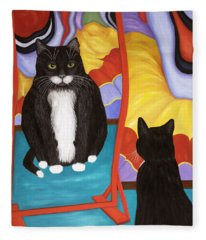 Fun House Fat Cat Fleece Blanket