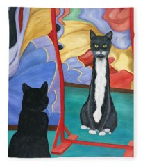 Fun House Skinny Cat Fleece Blanket