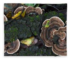 Fungi Contrast Fleece Blanket