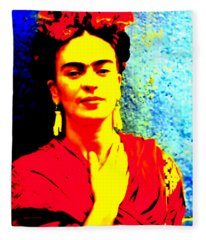 Funky Frida IIi Fleece Blanket