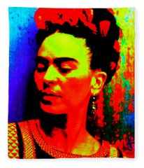 Funky Frida Fleece Blanket