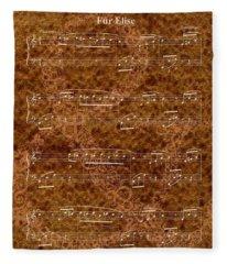 Fur Elise Music 2 Digital Painting Fleece Blanket
