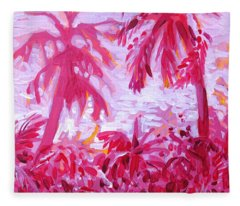 Fuschia Landscape Fleece Blanket