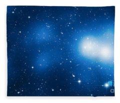 Galaxy Cluster Macs J0717 Fleece Blanket