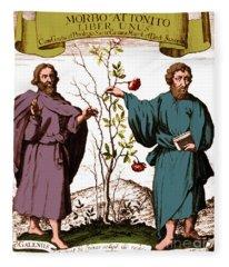 Galen And Hippocrates, Ancient Fleece Blanket