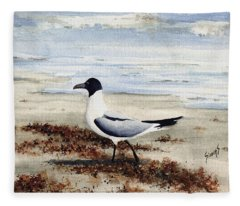 Galveston Gull Fleece Blanket