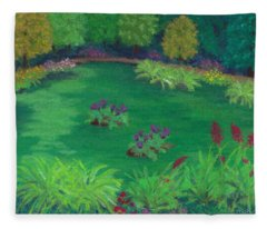 Garden In The Woods Fleece Blanket
