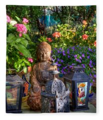 Garden Meditation Fleece Blanket