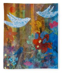 Garden Of Love Fleece Blanket