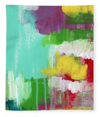Garden Path- Abstract Expressionist Art Fleece Blanket
