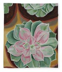 Garden Rossette Fleece Blanket