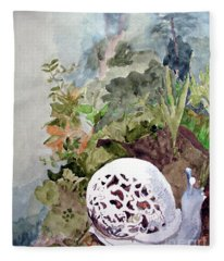 Garden Snail Fleece Blanket