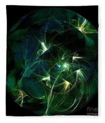 Garden Sprites Come At Night Fleece Blanket