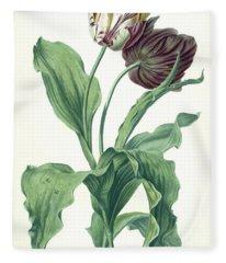 Garden Tulip Fleece Blanket