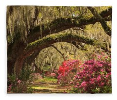 Garden View Fleece Blanket
