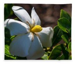 Gardenia At Twilight 2 Fleece Blanket