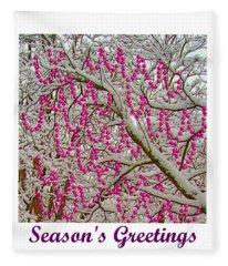 Garlands In The Snow Fleece Blanket