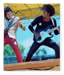 Gary Moore And Phil Lynott Of Thin Lizzy At Day On The Green 4th Of July 1979 - 1st Color Unreleased Fleece Blanket