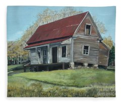 Gates Chapel - Ellijay Ga - Old Homestead Fleece Blanket