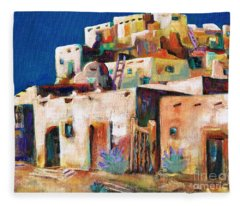 Gateway Into  The  Pueblo Fleece Blanket