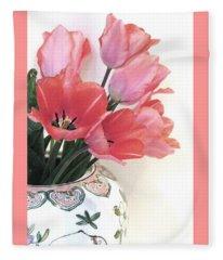 Gathered Tulips Fleece Blanket