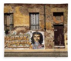 Gaucho Che Promotes Contraception Fleece Blanket