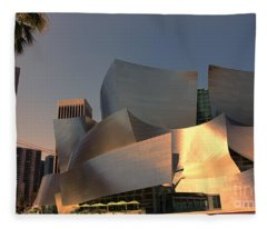 Walt Disney Concert Hall Gehry Tones Fleece Blanket