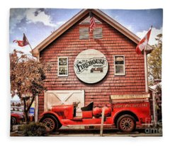 Geneva On The Lake Firehouse Fleece Blanket