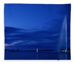 Geneva Switzerland Fleece Blanket