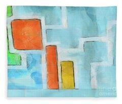 Geometric Abstract Fleece Blanket