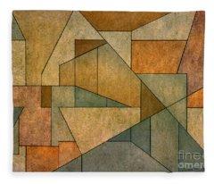 Geometric Abstraction Iv Fleece Blanket