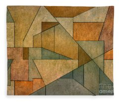 Geometric Abstraction Iv Fleece Blanket