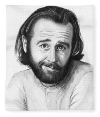George Carlin Portrait Fleece Blanket