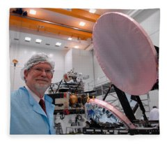 George F. Smoot With Planck Obs. Mirrors Fleece Blanket