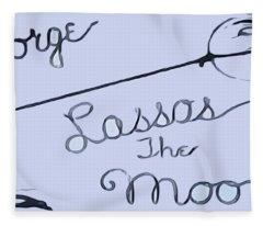 George Lassos The Moon Fleece Blanket