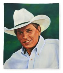 George Strait Fleece Blanket