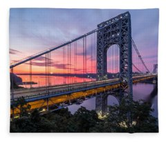George Washington Bridge Fleece Blanket
