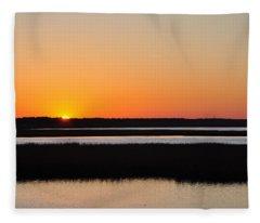 Georgia Sunset Fleece Blanket