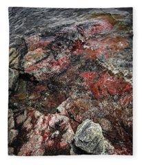 Georgian Bay Rocks Abstract IIi Fleece Blanket