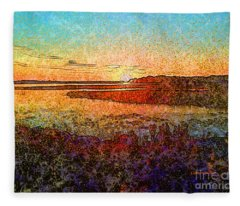 Georgian Bay Sunset Fleece Blanket