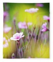 Geranium Fleece Blanket