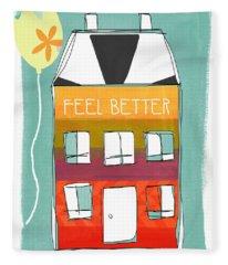 Get Well Card Fleece Blanket