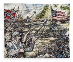 Gettysburg Ash's At The Angle Fleece Blanket