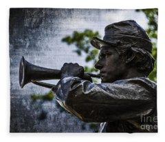 Gettysburg Bugler Fleece Blanket
