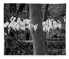 Ghost Leaves Fleece Blanket