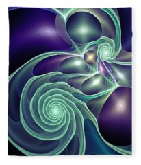 Ghost Lights Fleece Blanket
