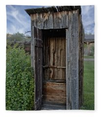 Ghost Town Outhouse - Montana Fleece Blanket